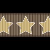 Medium Ribbon- Stars- Brown & Tan