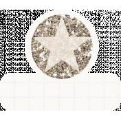 Glitter Star Tab- White & Tan