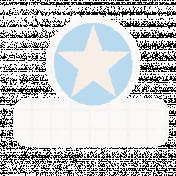 Star Tab- White & Blue