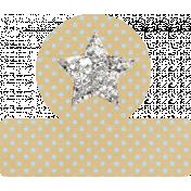 Glitter Star Tab- Tan & Blue
