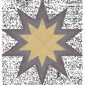 Textured Grunge Star 25