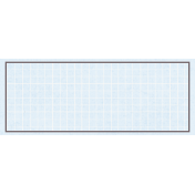 Rectangle Grid Tag- Blue