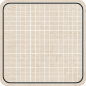 Square Grid Tag- Rounded- Tan & Navy