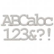 Plastic Glitter Alpha- Silver (serif)
