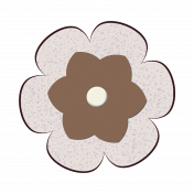 Brown Paper Flower 3