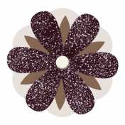Brown Paper Flower 4
