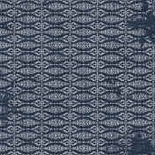 Damask 06 Paper- Navy & White