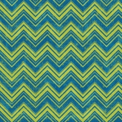 Chevron 08 Paper- Green & Blue