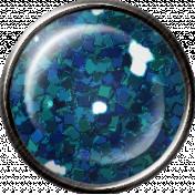 Metal Glitter Brad- Blue