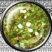 Metal Glitter Brad- Green
