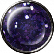 Metal Glitter Brad - Purple