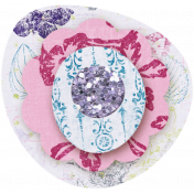 Paper Glitter Flower - Purple & Pink