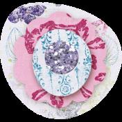 Paper Glitter Flower- Purple & Pink