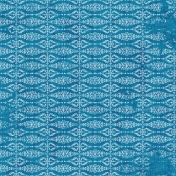 Damask 06 Paper- Blue & White