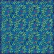 Floral Paper- Green & Blue