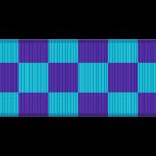 Fat Ribbon- Checked- Blue & Purple