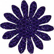 Paper Flower 01- Purple Glitter