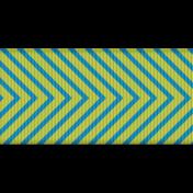 Fat Ribbon- Chevron 01- Blue & Green