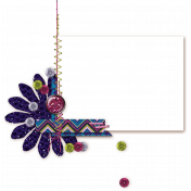 Flower, Sequins & Stitching Frame Cluster (shadow)