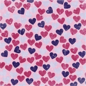 Hearts 12 Paper- Pink & Purple