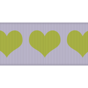 Fat Ribbon- Hearts 01- Lilac & Green