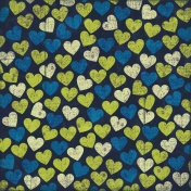 Hearts 12 Paper- Green & Blue