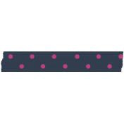 Polka Dot Washi Tape- Navy & Pink