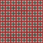 Argyle 04 Paper- Red & Gray