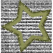 Green Glitter Star