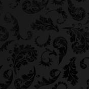Black Floral Velvet