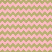 Chevron 07 Paper- Green & Pink