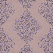 Damask 05 Paper- Purple