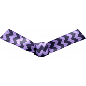 Knotted Bow- Purple Chevron
