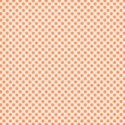 Polka Dots 23 Paper- Orange & White