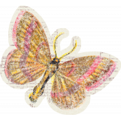 Distressed Butterfly Ephemera 05