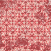 Damask 01 Paper- Red, Pink & Mint