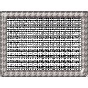 Houndstooth Plastic Frame- Gray & White