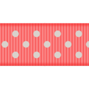 Medium Ribbon- Polka Dots 01- Pink & Mint