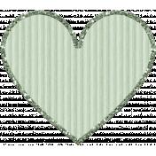 Cardboard Glitter Heart- Mint