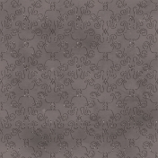 Love Me Glitter Paper - Damask - Gray
