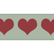 Fat Ribbon- Hearts 01- Mint & Red