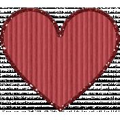 Cardboard Glitter Heart- Red