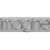Imagine Metal Word Art