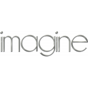Imagine Metal Word Art