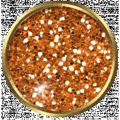 Versailles Glitter Brad- Orange