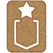 Chipboard Clip- Star