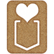 Chipboard Clip- Heart