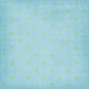 Blue Green Polka Dots