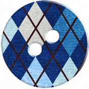 Blue Argyle Button