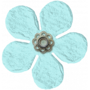 Amsterdam Small Paper Flower- Blue